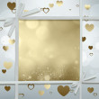 Romantic greeting card — Stock Photo