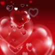 Stock Photo: Red hearts