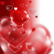 Red hearts — Stock Photo #38290797