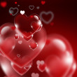 Red hearts — Stock Photo #38290939