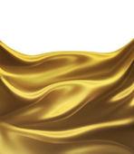 Golden silk — Stock Photo