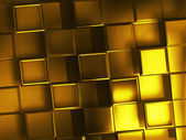Gold squares — Stock Photo