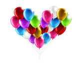 Balloons in the shape of a heart — Stock Photo