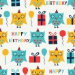 Birthday seamless — Stock Vector