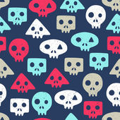Skull seamless background — Stock Vector