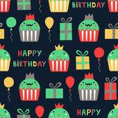 Urodziny bez szwu — Wektor stockowy