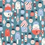 Ice cream seamless background — Stock Vector #30540359