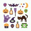 Halloween cartoon set — Stock Vector