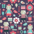 Birthday seamless pattern — Stock vektor