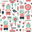 Birthday seamless pattern — Image vectorielle