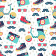 Hipster seamless pattern — Stock Vector #33222535