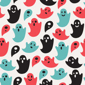 Funny ghost seamless pattern — Stock Vector
