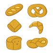 Cartoon bread set — Stock Vector