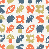 Funny animal pattern — Vettoriale Stock