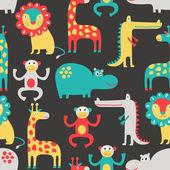 African animal seamless pattern — Stock Vector