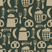Beer seamless pattern — Vettoriale Stock