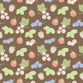 Berry seamless pattern — Stock Vector