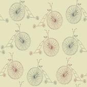 Sfondo bicicletta retrò — Vettoriale Stock