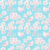 Cherry flower background — Vetor de Stock