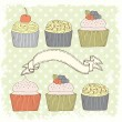 Cupcake card — Stock Vector #34300493