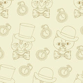 Gentleman retro pattern — Vecteur