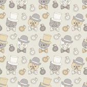 Gentleman retro pattern — Vettoriale Stock