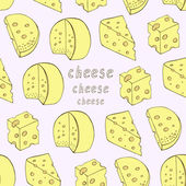 Cheese seamless background — Stock Vector