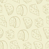 Retro cheese seamless pattern — Stock Vector
