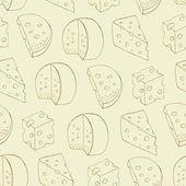 Retro cheese seamless pattern — Stock Vector