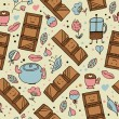 Chocolate seamless pattern — Stockvectorbeeld