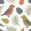 Bird seamless pattern — Stockvektor