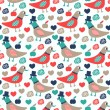 Dove seamless pattern — 图库矢量图片