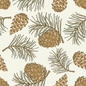 Cone seamless pattern — Vector de stock