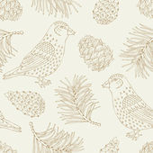 Bird seamless pattern — Stock Vector