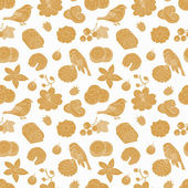 Cookie seamless pattern — Stock vektor