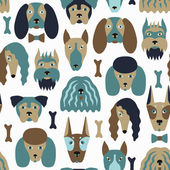 Dog seamless pattern — Stock Vector