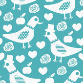 Dove seamless pattern — Stock Vector