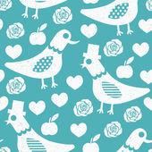 鳩のシームレスなパターン — ストックベクタ