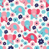 Elephant seamless pattern — Stock Vector