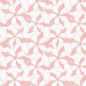 Hand drawn flower pattern — Stock Vector