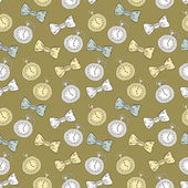 Gentleman seamless pattern — Vecteur