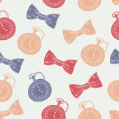 Gentleman seamless pattern — 图库矢量图片