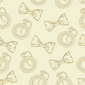 Gentleman seamless pattern — Vettoriale Stock