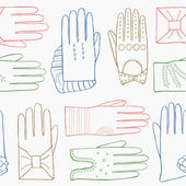 Glove hand drawn pattern — Stock Vector