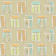 Cartoon window seamless pattern — Imagen vectorial