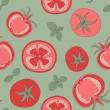 Tomato seamless pattern — Stock Vector