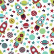 Stock Vector: Space seamless pattern