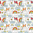 Sky seamless pattern — Stockvektor