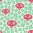 Skull seamless pattern — Stock Vector