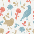 Bird seamless pattern — Stok Vektör